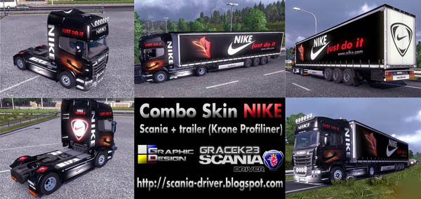Combo Skin NIKE (Scania + trailer)