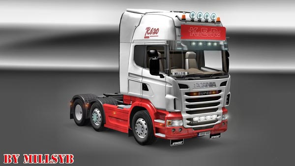 KER Transport Scana Cab Skin
