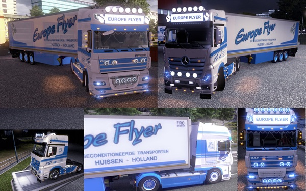Mercedes-Benz MP4 DAF XF V 1.0 Rework Europe Flyer Pack
