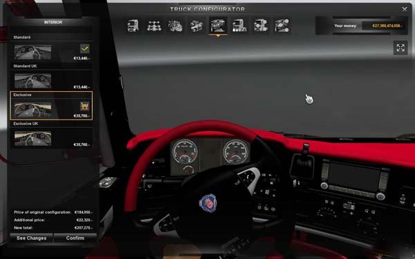 Scania Luxus Interior