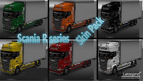 Scania R series skin pack