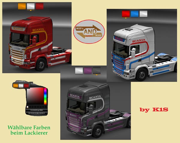 Scania Selectable Color Painting