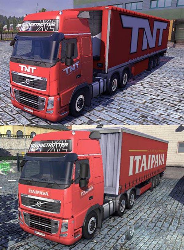Volvo TNT and Itaipava skins