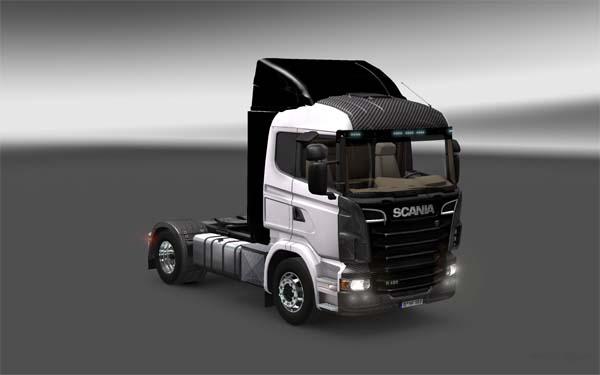 Carbon Preto Scania skin