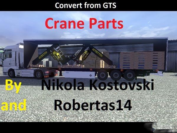 Crane Parts trailer