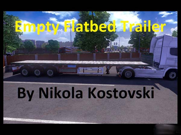 Empty Flatbed Trailer
