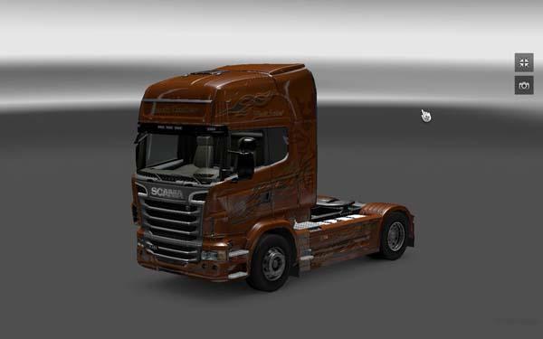 Scania Black Amber skin