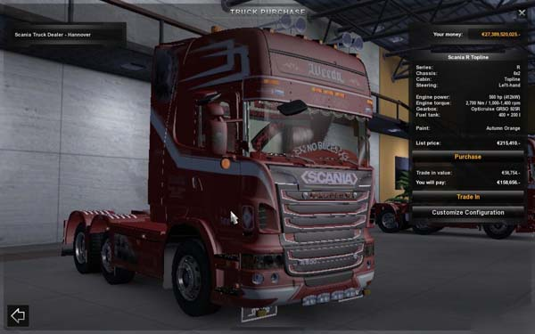 Scania New R500 Topline Weeda Son of Monarchy Showtruck