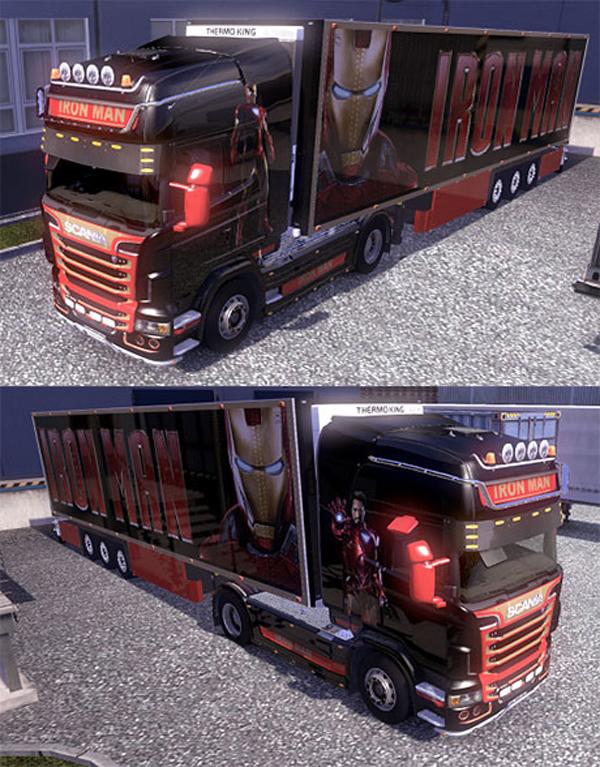 Scania trailer Iron man skin