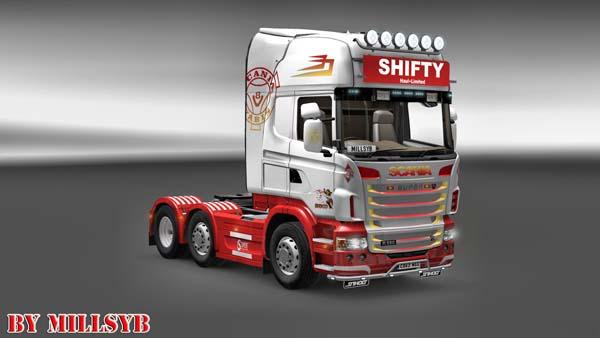 Shifty Haul Ltd Scania Cab Skin