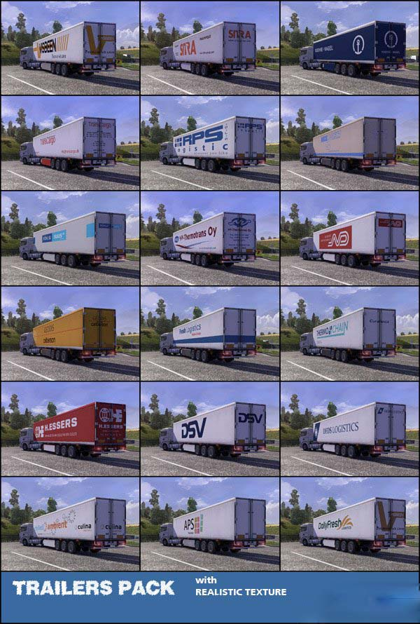 TRAILER PACK with realistic textures 1.4.1