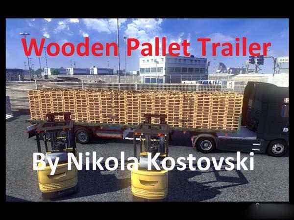 Wooden Pallet Trailer
