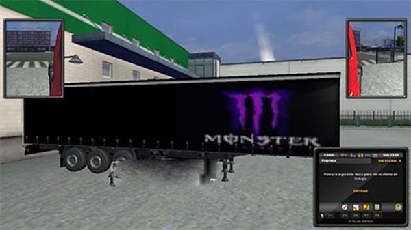 Aguila Y Monster Energy trailer