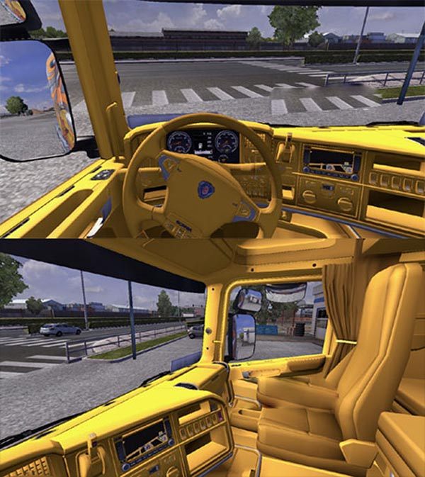 SCANIA yellow interior