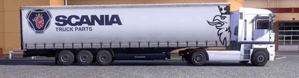 Scania trailer skin