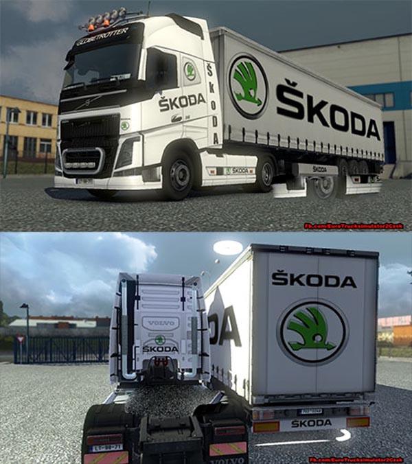Škoda auto combo skin