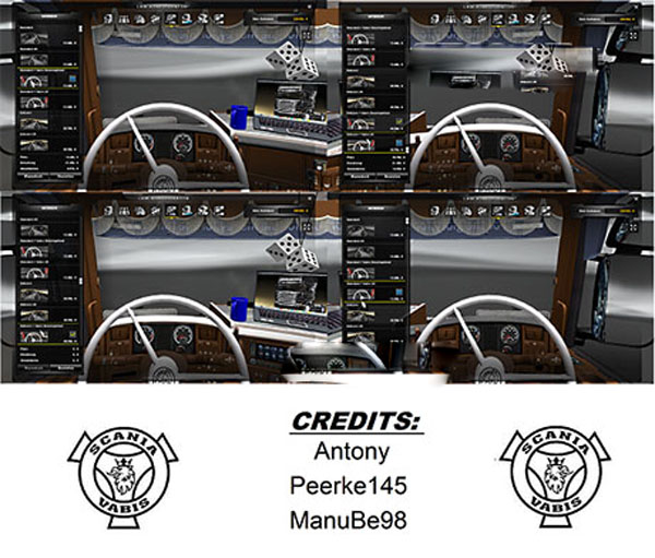 50k Scania R 2008 V1or2 Vabis Steering wheel