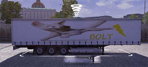 Bolt the dog trailer