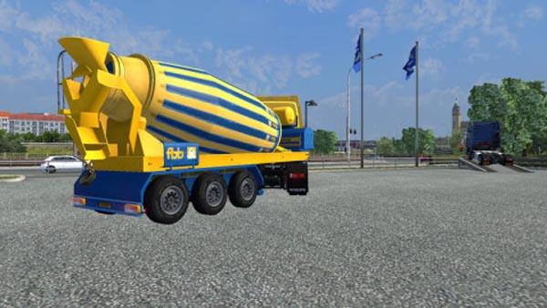 FBB Concrete mixer trailer