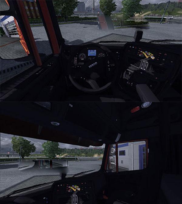 IVECO Hiway black interior
