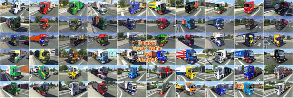 Painted Truck Traffic