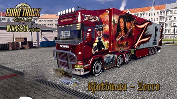 Ristimaa Zorro skin for Scania+Schmitz trailer