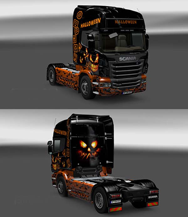 Scania Happy Halloween Skin
