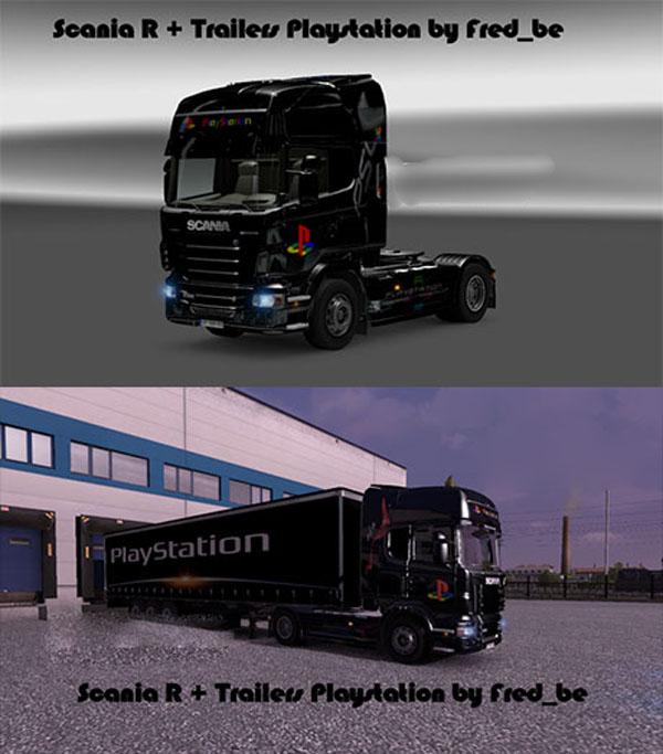Scania R + Trailers Playstation