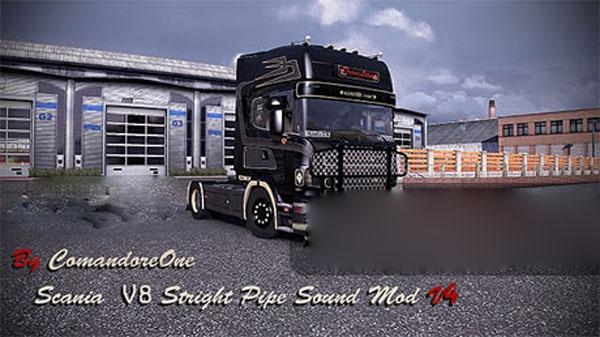 Scania Stright Pipe V8 Sound Mod V4
