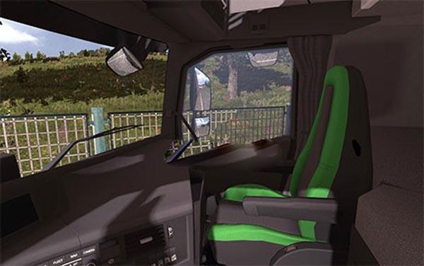 Volvo FH16 2013 black-green interior