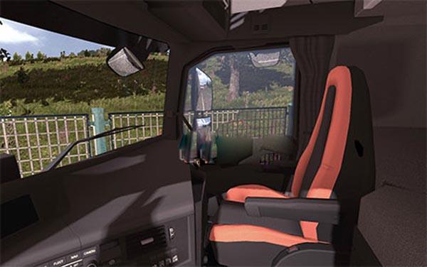 Volvo FH16 2013 black-orange interior