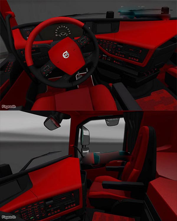 Volvo FH16 Red Black Interior