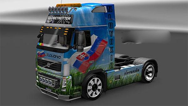 Volvo FH16 blue sky grass skin