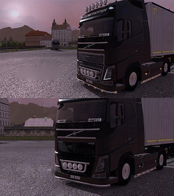 Volvo FH16 grill paint
