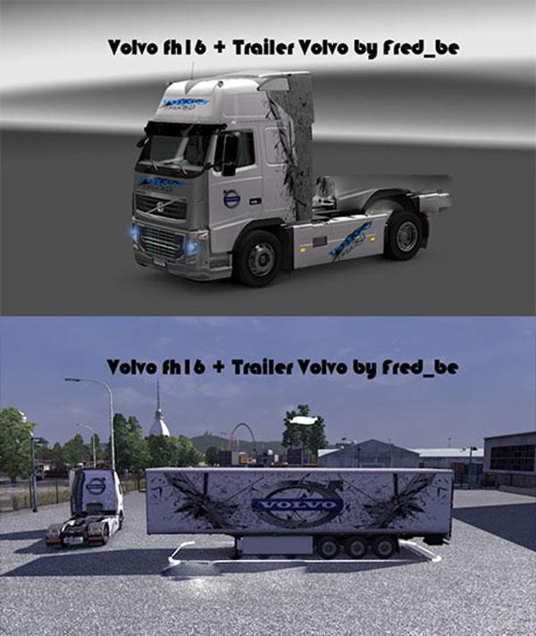 Volvo fh16 + Trailer Volvo