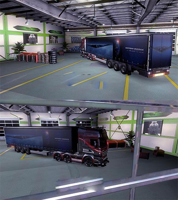 B2 Spirit Northrup Grumman trailer