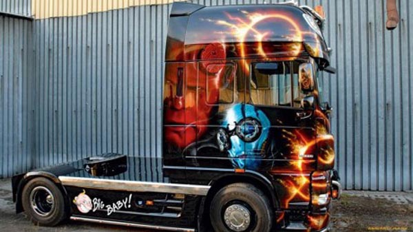 DAF XF Hellboy Skin