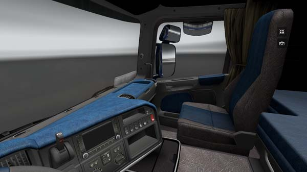 Scania Blue – Grey Leather Interior