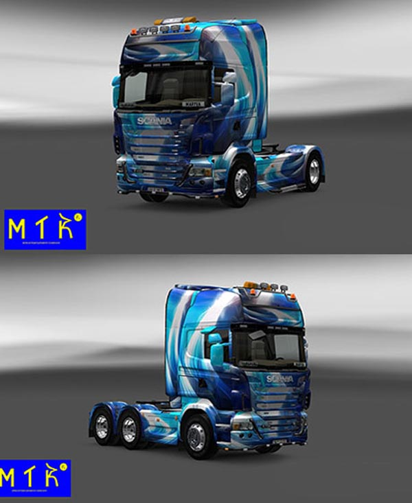 Scania Blue Abstract Skin