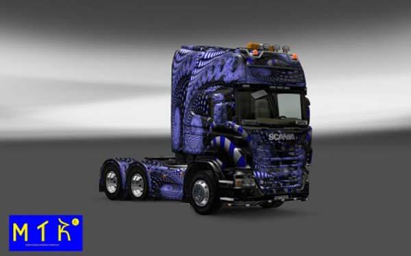 Scania Blue Ladder Skin