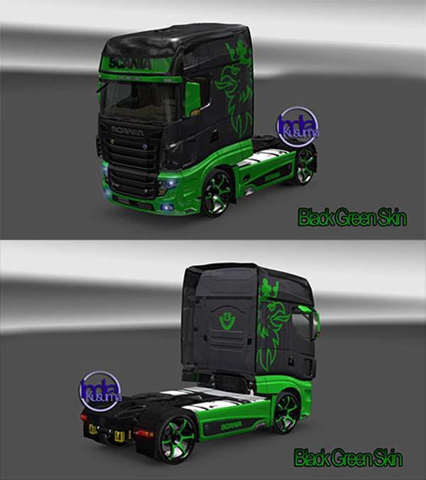 Scania R700 Black Green Skin