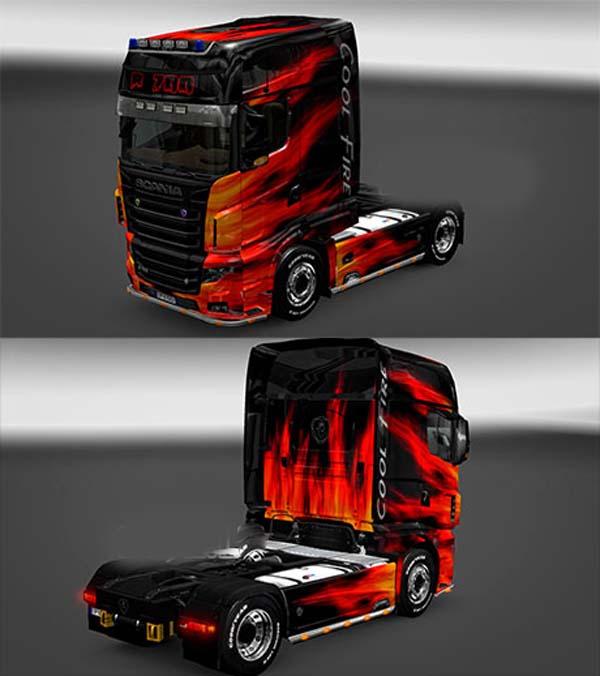 Scania R700 Cool Fire skin