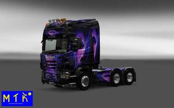 Skin Scania Black and Purple 2