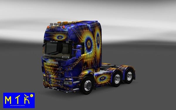 Skin Scania Sol Fractal