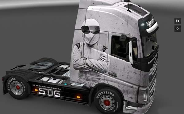 The Stig skin for Volvo FH
