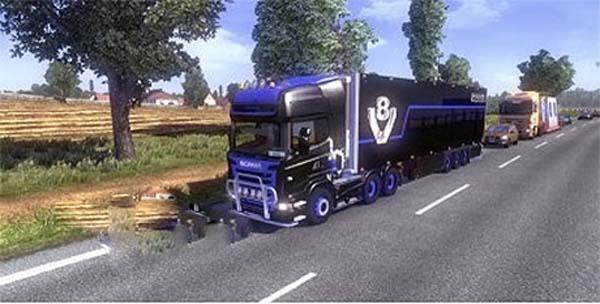 V8 Scania & trailer skin v1.2