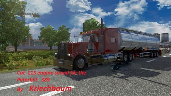 Cat C15 engine sound for the Peterbilt 389