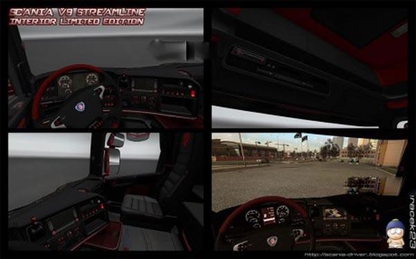 Interior Scania V8 Streamline Limited Edition