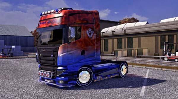 Scania R700 Fire meet Water