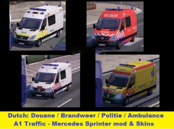 Fire Ambulance Police on MB Sprinter